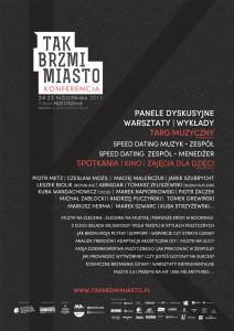 Konferencja Tak Brzmi Miasto - plakat web (1)