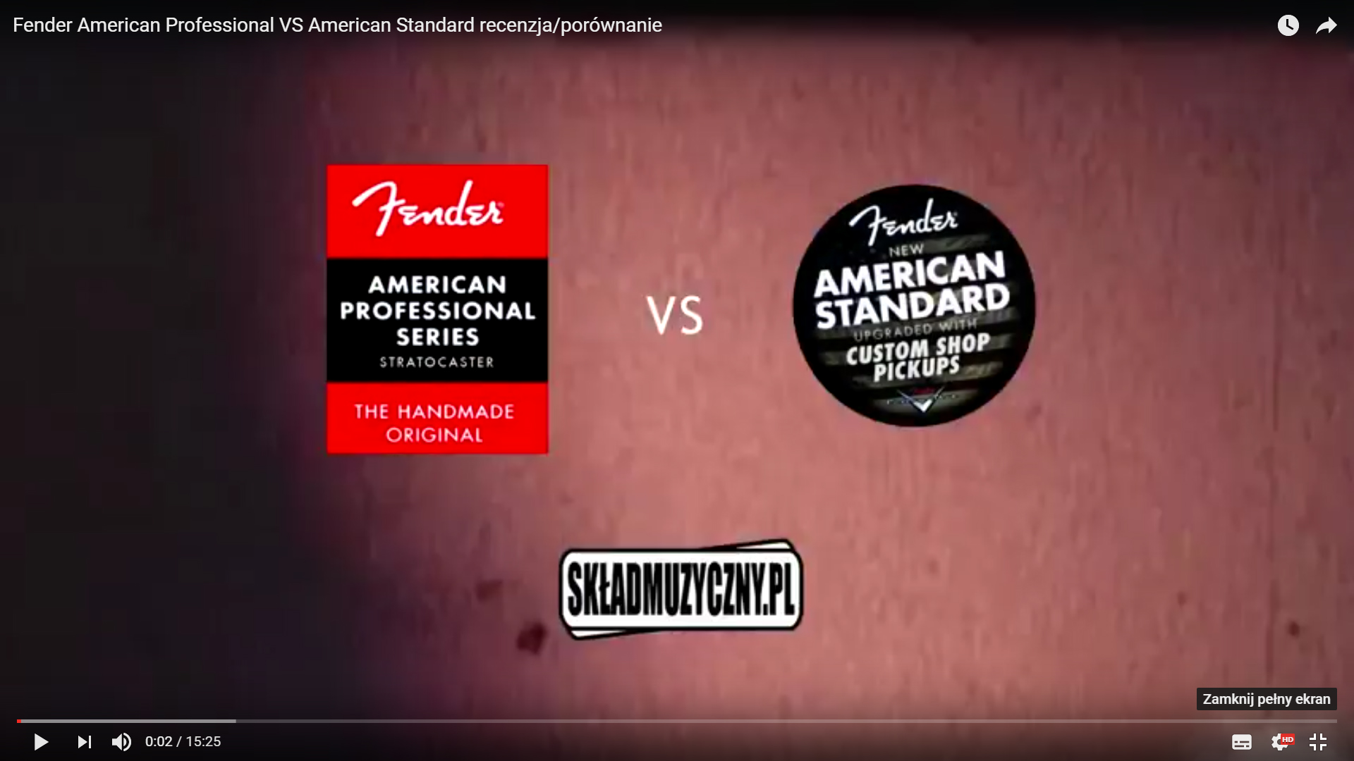 Recenzja Fender American Professional VS American Standard VIDEO